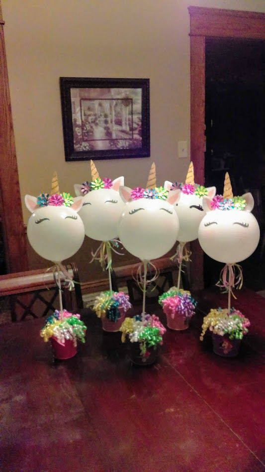 Unicorn Balloon Centerpieces