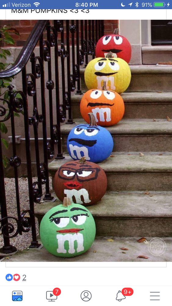 M&M pumpkins