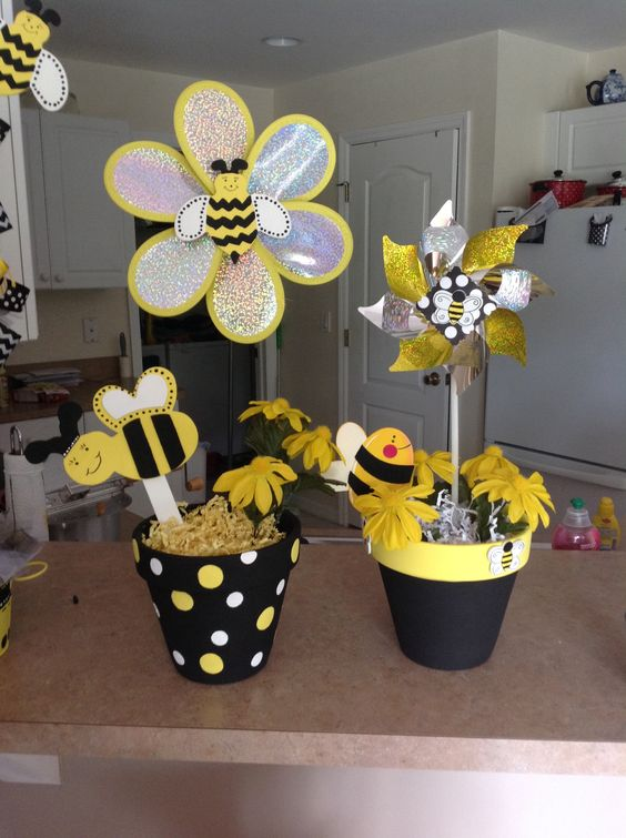 Bumble Bee Centerpieces
