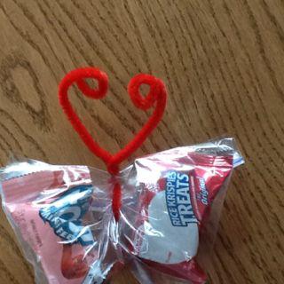 Butterfly Valentine Snack #valentinesforkids