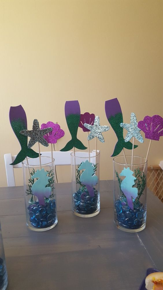 Mermaid Centerpieces