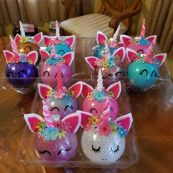 Shiny Unicorn Ornaments
