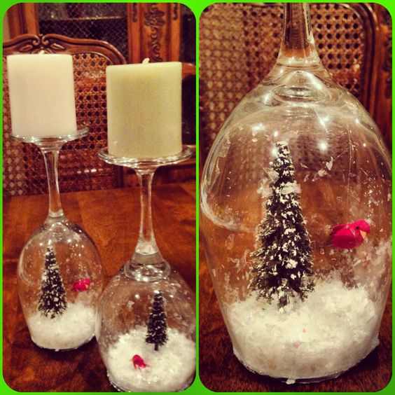 Snow Globe Candle Holders