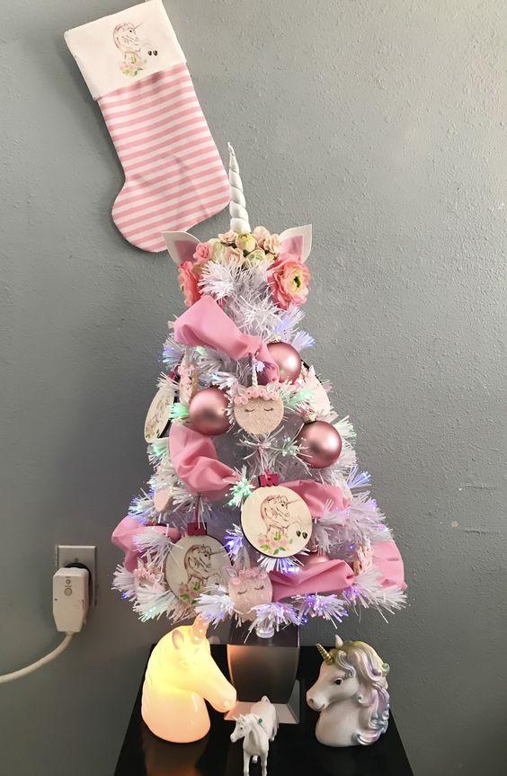 Pink Unicorn Christmas Tree