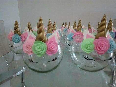 Glass Bowls Unicorns