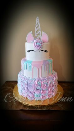 Pastel Unicorn Drip Cake