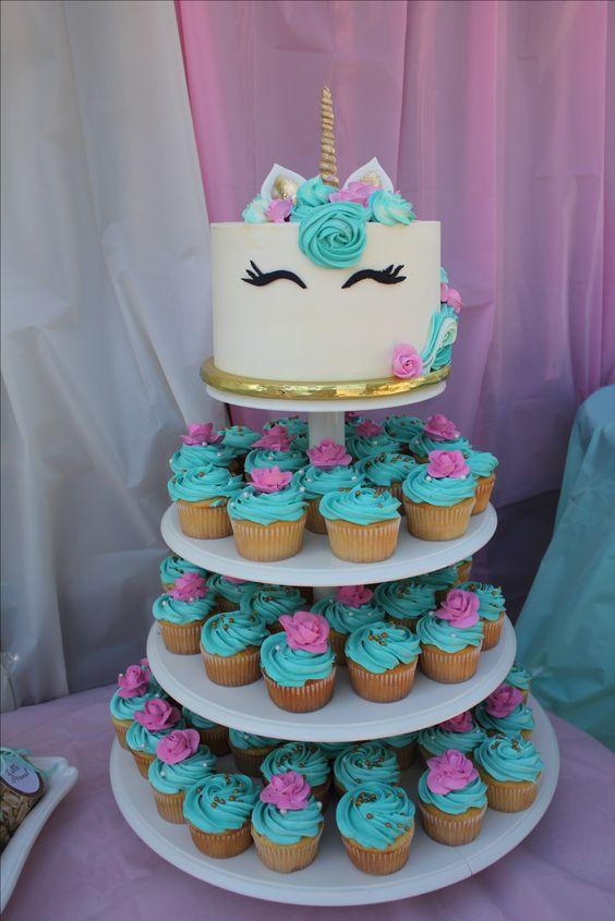 Unicorn Baby Shower Cupcakes
