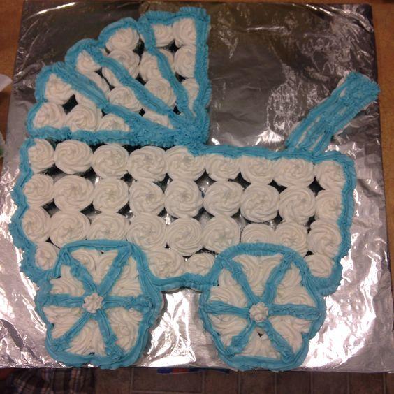 Baby Buggy cupcake cake