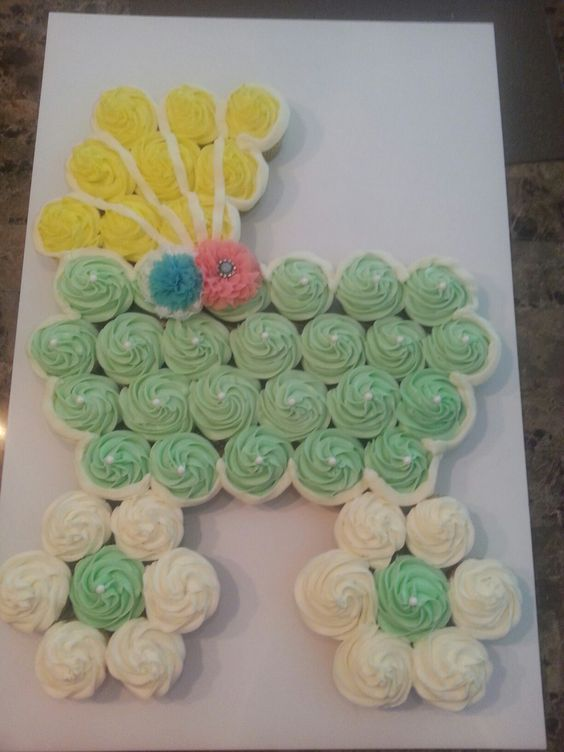 baby shower cupcake cakes