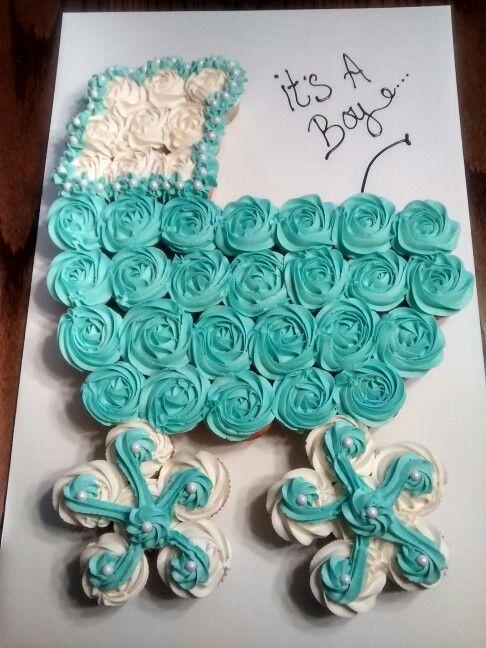 Babyshower Buggy cupcake cake