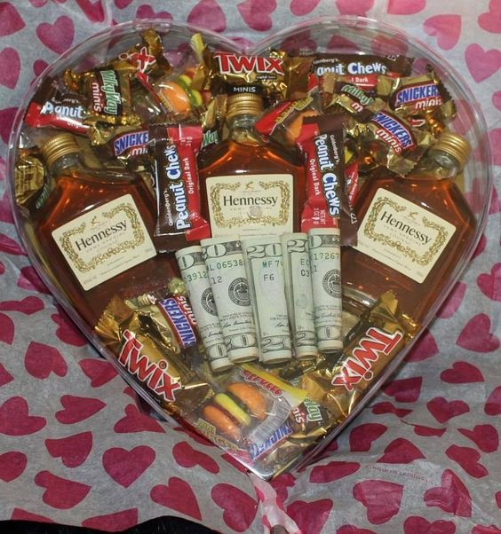 Heart Shaped Valentines Gift Basket