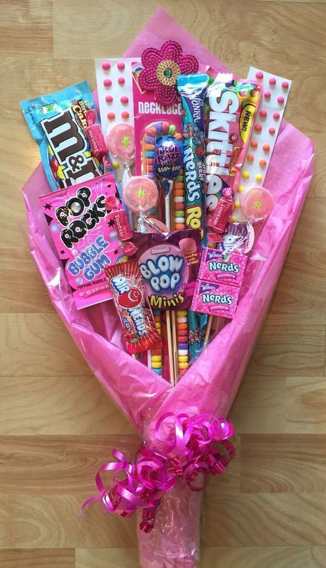 Pink Candy Bouquet - valentine gift ideas