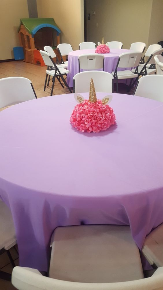 Pink Unicorn Centerpiece