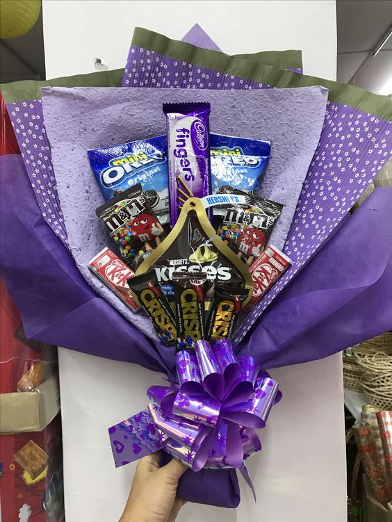 Purple Candy Bouquet #valentines