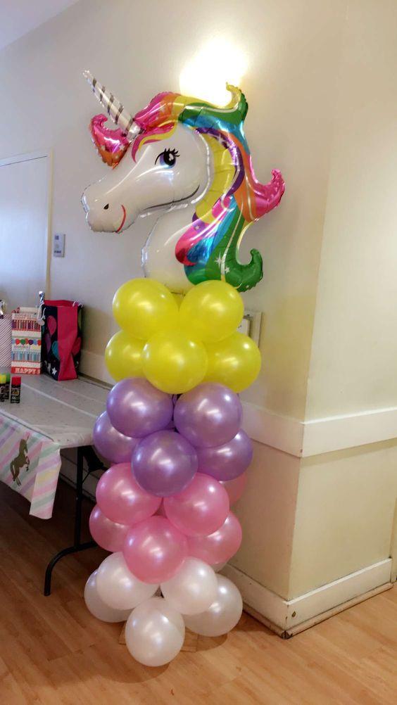 Unicorn Balloon Tower
