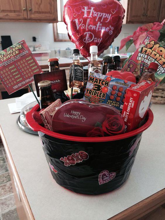 Valentines day basket for him