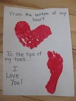Valentines Footprint Crafts