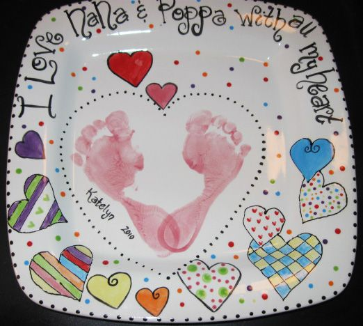How to Make a Valentines Day Handprint Plate