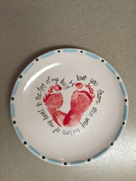 Valentines Day Handprint Plate