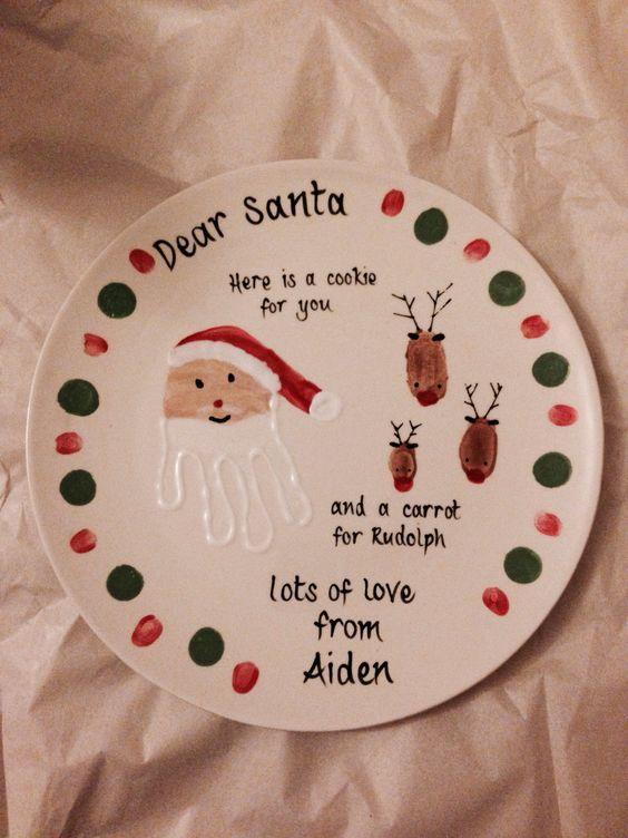 Christmas Santa Plate